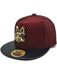 YYXXX Gorras béisbol Cabeza de Lobo de Metal con Personalidad de Sombrero de  ala Plana 354a3b0f0d2