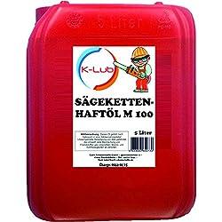 5 Liter K-Lub Sägekettenöl M 100 mit Superhaft Zusatz, Kettensägeöl mineralisch