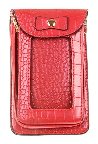 kiss-goldtm-faux-leahter-crocodile-skin-crossbody-single-shoulder-bag-cellphone-pouch-red