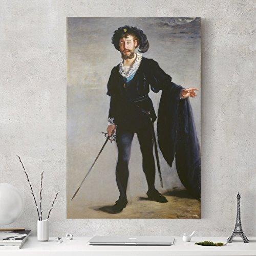 Bilderwelten Leinwandbild - Edouard Manet - Der Sänger Jean-Baptiste Faure als Hamlet - Hoch 3:2, Leinwand Leinwandbild XXL Leinwanddruck Wandbild, Größe HxB: 120cm x 80cm x (Kostüme Hamlet)