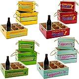 3 tlg. XL Set - Holz - Kisten / Holzboxen & Getränke Tablett -  Vintage Look ..