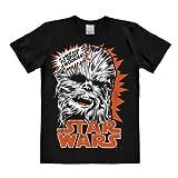 T-Shirt Chewbacca - Krieg der Sterne - Star Wars - Wookiee - Rundhals Shirt von LOGOSHIRT - schwarz - Lizenziertes Originaldesign, Größe XL