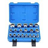 Vielzahn Steckschlüsselsatz, 19 tlg Außen Innen Nüsse//Gearlock Steckschlüssel Satz diverse Modelle 8-32 mm