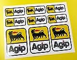 AGIP optik Motorrad Helm Aufkleber Sticker Verkleidung Werkzeugbox Gabeln