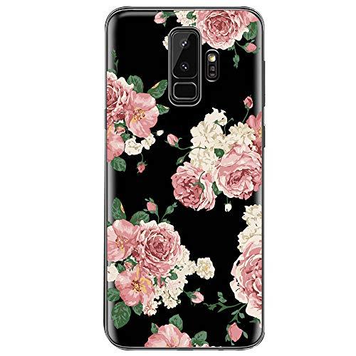 Samsung Galaxy S9 Hülle, Crystal Clear Transparent Handyhülle TPU Silikon Backcover Case Blossom Blühen Blumen Flower Muster Schutz HandyHülle Tasche Hülle für Samsung Galaxy S9 (Galaxy S9, 6)