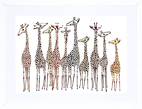 9x7-dt-group-of-giraffes-framed-art-print-picture-mount-photo-f97x289