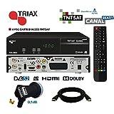 Récepteur satellite Triax THR 9900 HD + carte TNTSAT + HDMi + LNB Single Best HG101