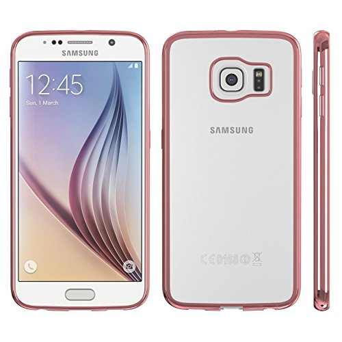 Samsung Galaxy A3 (2016) Hülle - EAZY CASE Chrom Cover Handyhülle - Schutzhülle aus Silikon in Metallic Gold Rosa