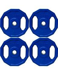 BodyRip–Unisex colores poligonal peso placas, azul, 4x 2,5kg/1-inch