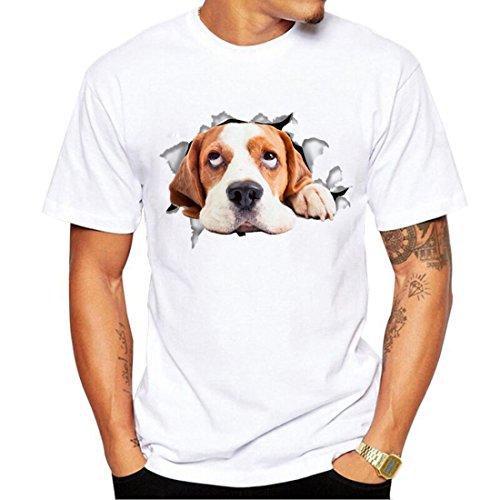 r Digital-Druckhemd-Neuheit-Fauler Hund Druckte T-Stück-Angesagte Hopfenhemden-Gemütlichen Hund 2XL = US XL (Mann, Katze Kostüm)