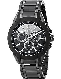Versace M8C60D008 S060 - Reloj de pulsera hombre, revestimiento de acero inoxidable, color negro