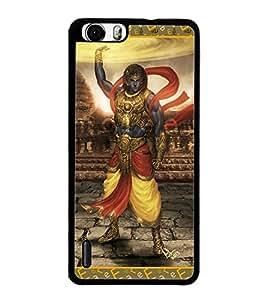 PrintDhaba Lord Krishana D-3077 Back Case Cover for HUAWEI HONOR 6 (Multi-Coloured)