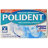 Polident Tabletas Limpiadoras para Prótesis Dentales - 30 Unidades