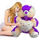 #5: Muren Valentine Special Big Teddy Bear - Purple (3.5 feet)