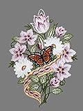 Fensterbild Kirschblütenstrauß Plauener Spitze Fensterdeko Spitzenbild Fensterschmuck