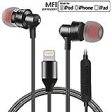 Lightning Kopfhörer, Fuleadture MFi zertifiziert In-Ear Kopfhörer Ohrhörer Hi-Fi Stereo Bass mit In-line Mikrofon Lightninganschluss Digital 8-Pin Light Lightning Headphone Earpod für Apple iOS Geräte iPhone, iPad und iPod