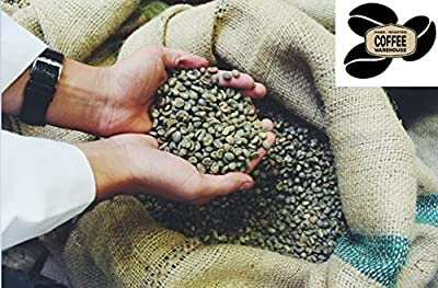 Brazil Santos Green Coffee Beans - Unroasted Raw - Perfect for Home Roasting by Hand Roasted Coffee Warehouse