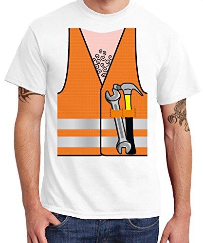 ::: YMCA ::: 6er SET ::: BAUARBEITER ::: Boys T-Shirt Weiss, Größe XXL (T-shirt Militär Dog)