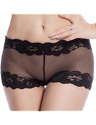 LUFA Women Hollow Out Panty Dentelle Impression Briefs Transparent Lingerie Plus Size