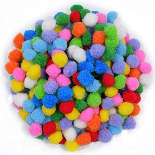 E Shopping Multi Colored Pom Pom Balls for Handcrafts(200 Pieces, 2 cm)