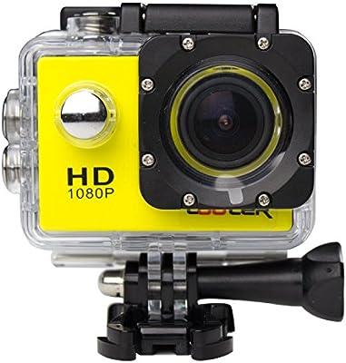 COOLER®-Videocámara de Acción SJ4000 - 12MP, HD, 1080P, Gran Angular, Sumergible hasta 30m, Incluye múltiples accesorios