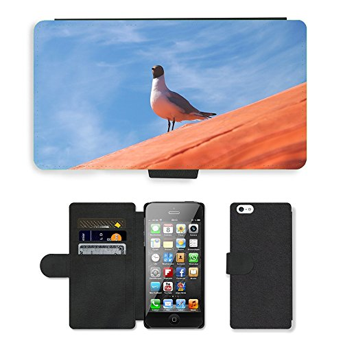 GoGoMobile PU Leather Flip Custodia Protettiva Case Cover per // M00117536 Mouette rieuse Mouette // Apple iPhone 5 5S 5G