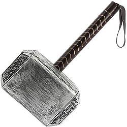 HOMBRE TAMAÑO NATURAL LARP MARVEL THOR MARTILLO Mjölnir