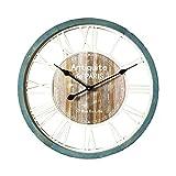 Mobili Rebecca Orologio a Parete Orologi da Muro Vintage Tondo Cucina Soggiorno Legno Diametro 60 cm (cod. RE6141)