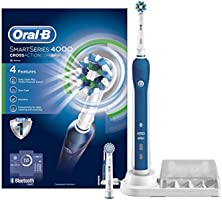 Oral-B Smart Series 4000 Cross Action Electric Rechargeable Toothbrush Powered by Braun