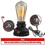 OYGROUP Industrielle Bügeleisen Tischlampe Beleuchtung Teile für Bar Cafe Home Schlafzimmer Study Studio Dekor