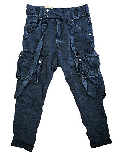 Damen Cargohose Militär HosenWorktrousers Freizeithose HS3212 (M, Mattes Grau)