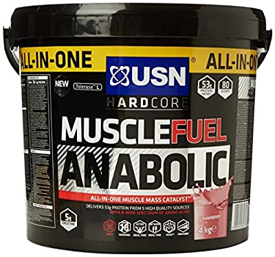 USN Muscle Fuel Anabolic 4 kg,Powerful All-In-One Shake,Supports Muscle Performance,Supports Muscle Recovery and Growth ( Vanilla) by USN
