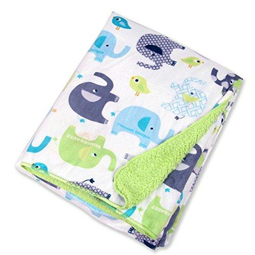 Peluche Baby manta Niño–Manta para bebé elefantes