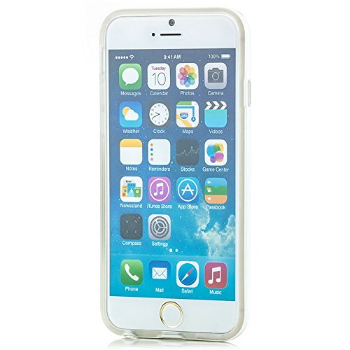 Saxonia iPhone 6 / 6S Hülle Case Ultra Slim Cover Silikon Schutzhülle Handy Backcover Bumper Blau Transparent