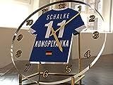 Bundesliga Fußball-Uhrim Trikot-Design –personalisierbar FC Schalke 04