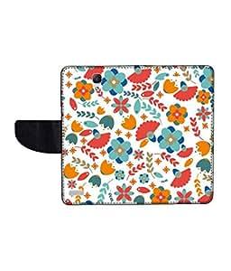 KolorEdge Printed Flip Cover For Redmi Xiaomi Note Multicolor - (55KeMLogo12015XiaomiNote)