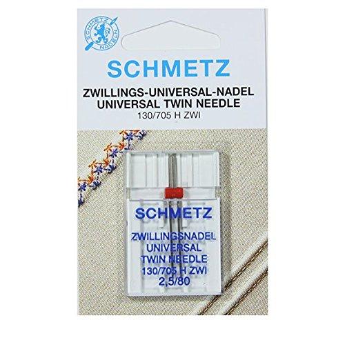 Nähmaschinen Nadeln Schmetz-Twin (10Größen wählbar)-Buy 2Get 1Free. + Einfädler, 2.5/80 (Single Packet)