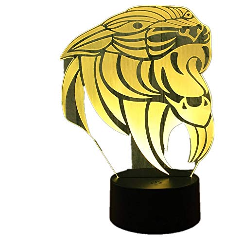 3D Cartoon Lion LED Labrador Hund Nachtlicht Baby Tier Lichter Tisch Lampen Für Home Decor Nilpferd USB Weihnachten Geschenke Für kinder Cartoon Lion Eine Größe
