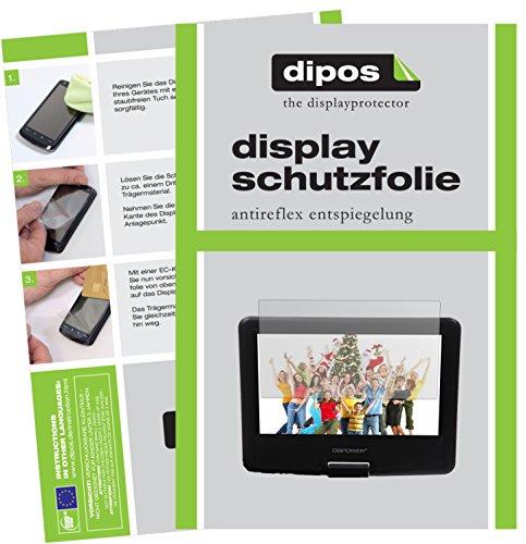 dipos I 3X Schutzfolie matt passend für DBPower 9,5 Zoll Tragbarer DVD-Player Folie Displayschutzfolie