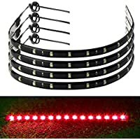 4pcs Flexible Banda LED Tailgate luz Streamer de freno para maletero luz trasera Bandas LED barra de freno vuelta señal doble flash de iluminación impermeable