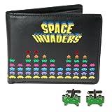 50Fifty Concepts Space Invaders Boutons de manchette et portefeuille dans un Lot