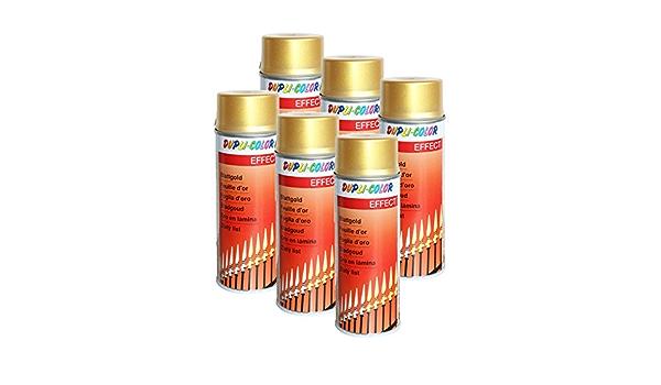 6x Dupli Color Blattgold Spray Acryllack Edelmetalloptik Glas Metall Stein 400 Ml Auto