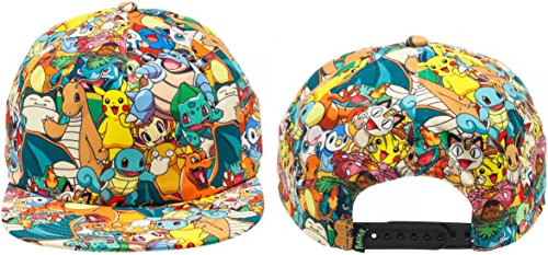Nintendo Pokemon All Over Print Sublimated Snapback Gorra De Béisbol