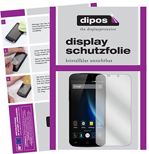 dipos I 6X Schutzfolie klar passend für Doogee X6 Pro Folie Bildschirmschutzfolie