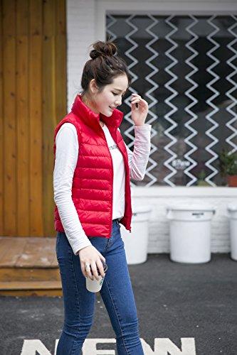 Sunrolan - Manteau sans manche - Doudoune - Uni - Femme Rouge