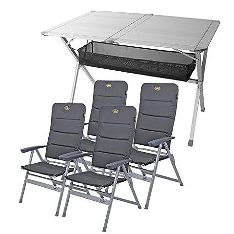 Camping Möbel Set Tisch + 4 Stühle