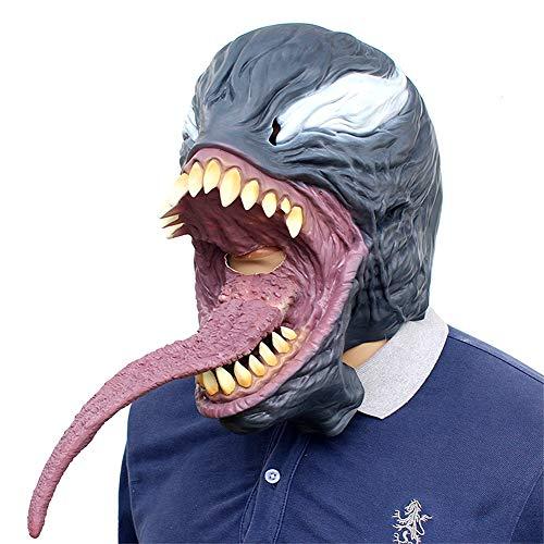 (SJZC Maske Halloween Cosplay Venom Masken Latex Erwachsene Prop Lustig Kind Spielzeug)