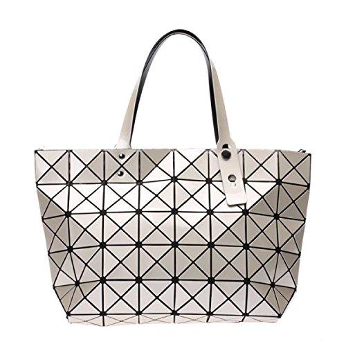 Damenmode-Laser-Tasche Geometrische Folding Umhängetasche Beige