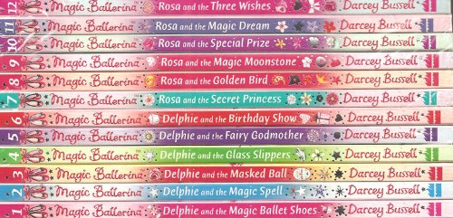 Magic Ballerina 12 books RRP £47.88 Delphie and the: Magic Ballet Shoes, Magic Spell, Masked Ball, Glass Slippers, Fairy Godmother, Birthday Show - Rosa and the: Magic Dream, Three Wishes, Special Prize, Magic Moonstone, Golden Bird, Secret Princess (Magic Ballerina)