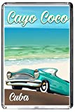 F305 CAYO COCO CUBA FRIDGE MAGNET BARZIL VINTAGE TRAVEL PHOTO CALAMITA DA FRIGO